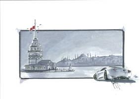 Istanbul view by talhakabasakal
