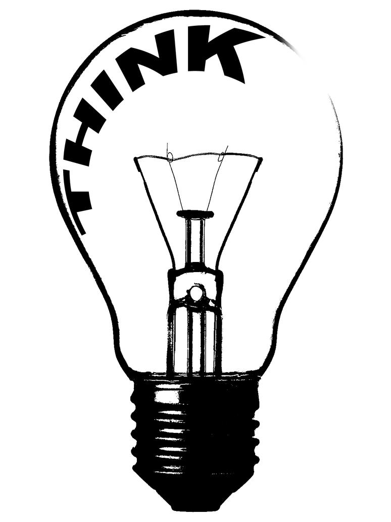 Think Lightbulb Stencil by eightseven