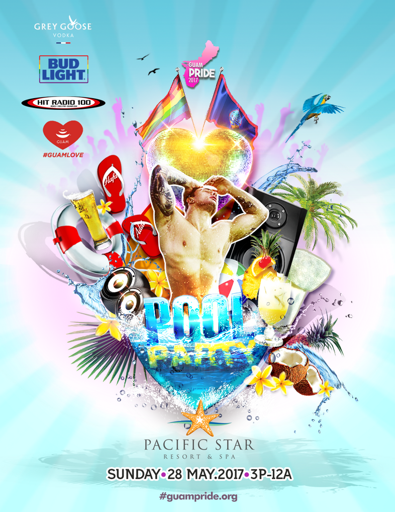 GUAM PRIDE 2017: POOL PARTY LAUNCH by romeogfx