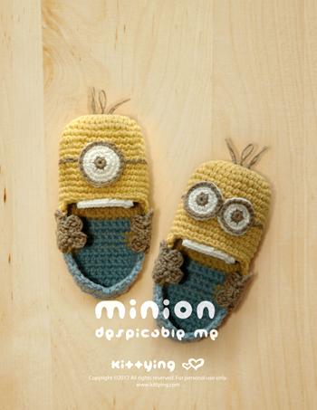 Free Crochet Pattern Minion Booties : Minion Baby Booties Crochet Pattern by KittyingYing on ...
