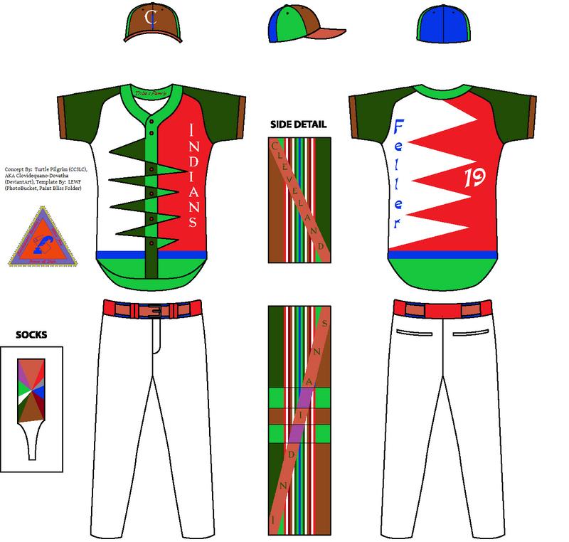 Cleveland Indians Concept Home Jersey - Bob Feller