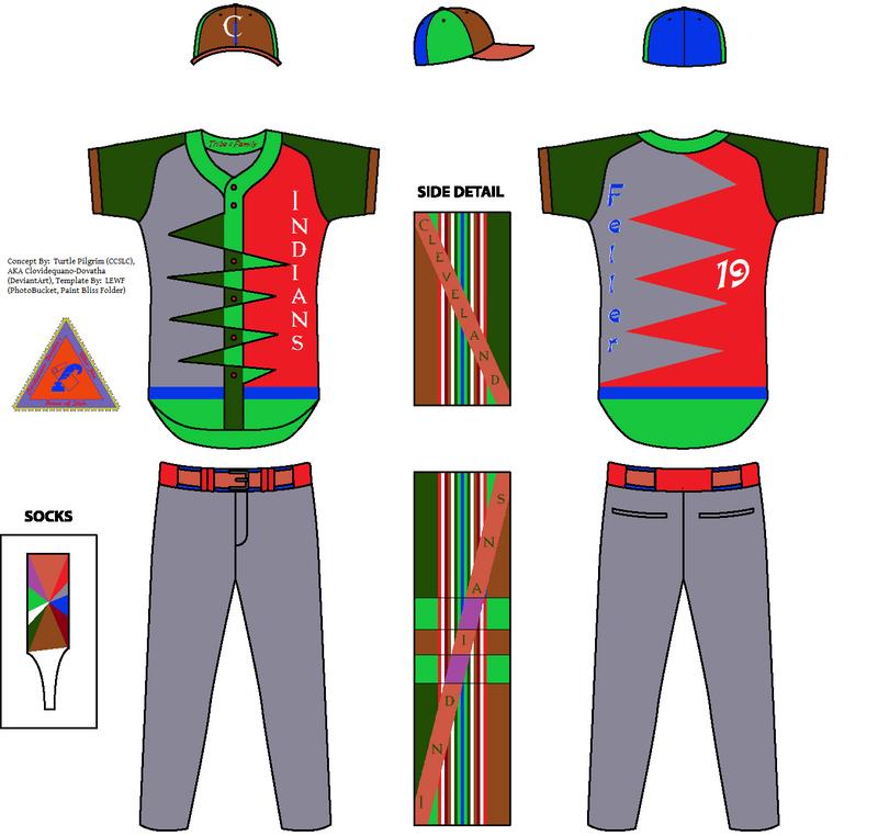 Cleveland Indians Concept Road Jersey - Bob Feller