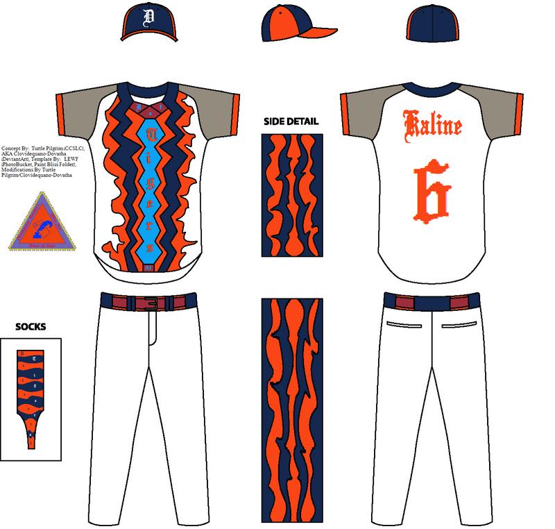 Detroit Tigers Concept Home Jersey - Al Kaline