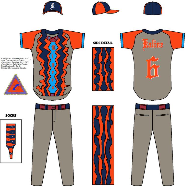Detroit Tigers Concept Road Jersey - Al Kaline