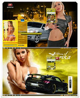 babes cars yellow by bigcyco1