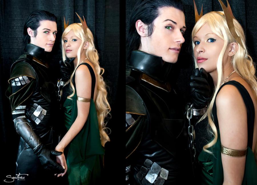 Loki and Sigyn - Punishment by Aicosu