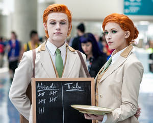 The Lutece Twins - Bioshock Infinite Cosplay