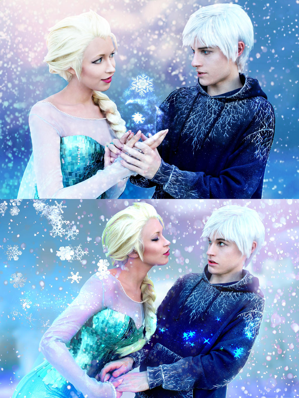 frost and cosplay Jack elsa