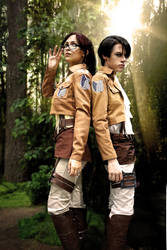 The Scouting Legion - Attack On Cosplay by Aicosu