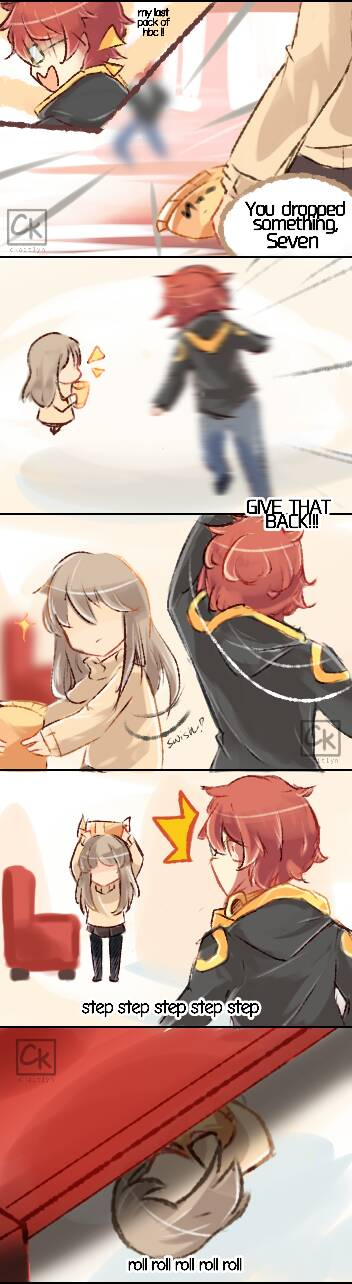 [Mystic Messenger] Seven's last pack of hbc by CKaitlyn