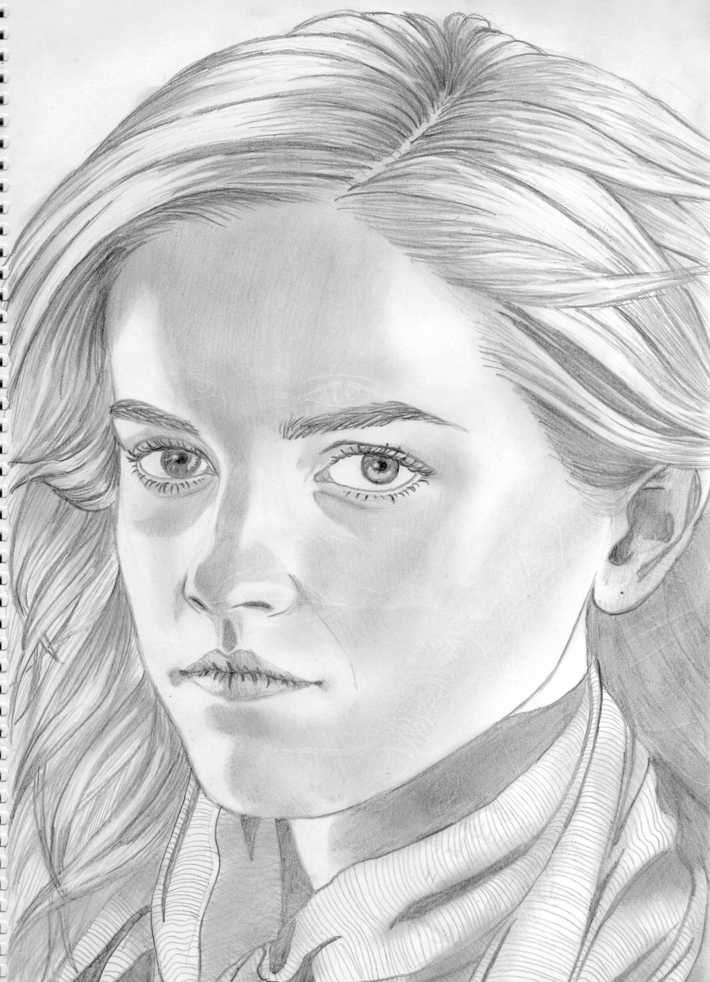 Hermione Granger By Elenouska15 Traditional Art Drawings Portraits