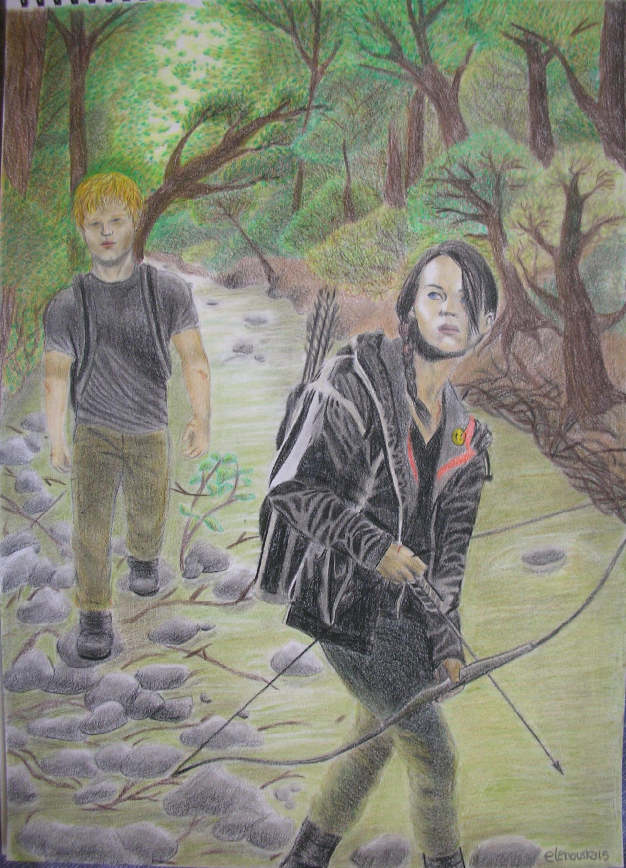 The Hunger Games - Katniss and Peeta in the arena by ...