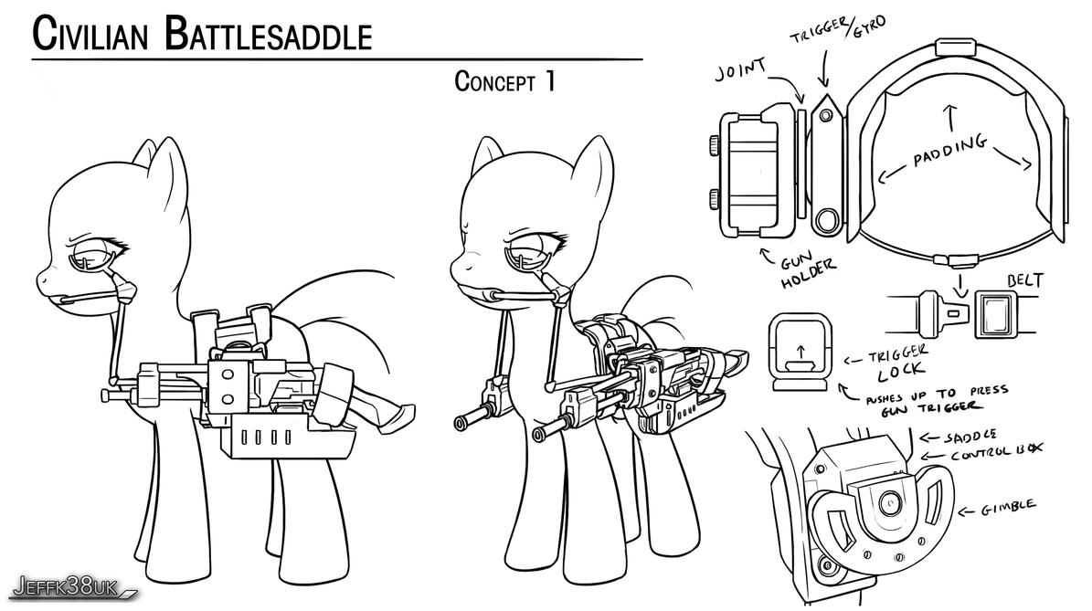 Overmare Studios: Civilian Battlesaddle P1 by Jeffk38uk