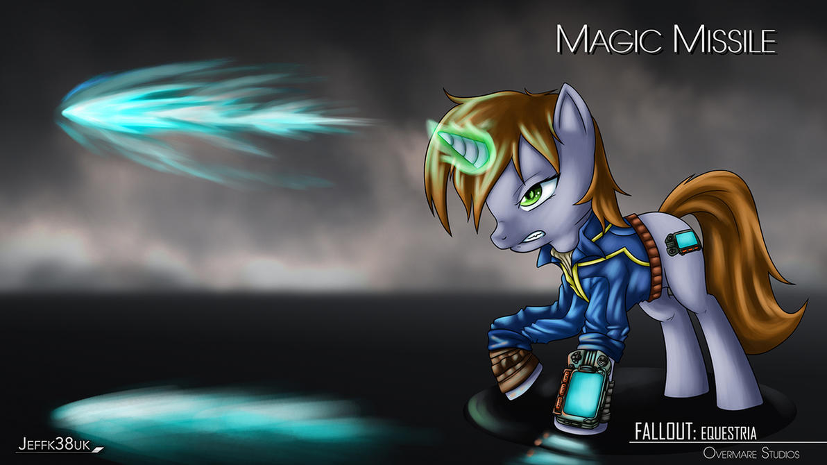 Fallout Equestria: Magic Missile Concept by Jeffk38uk