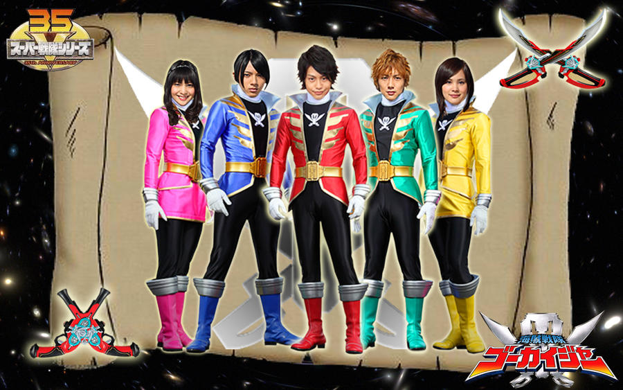 Gokaiger Helmetless by ~blakehunter on deviantART