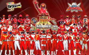 Super Sentai 35th Anniversary by blakehunter