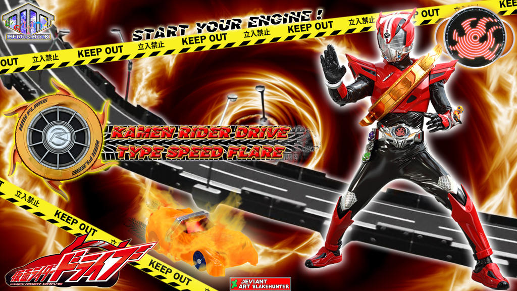 Kamen Rider Drive Type Speed Flare by blakehunter