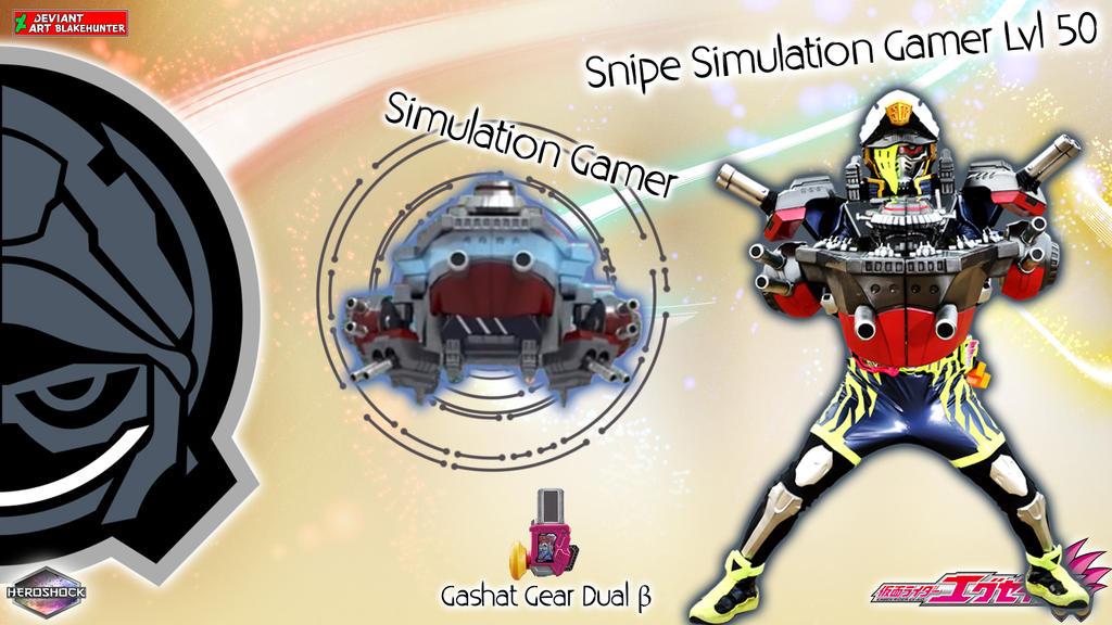 Kamen Rider Snipe Simulation Gamer Lvl 50 by blakehunter