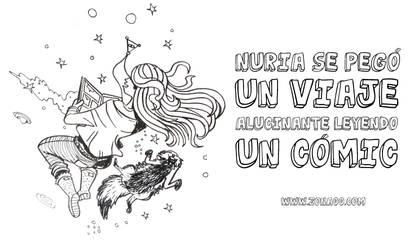Nuria read comics