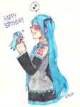 Miku miku birthday by Craz1estOn3