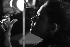 smoke the days last cigarette. by turkuturan