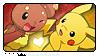 PKMN: Pikachu x Buneary Stamp by Reykholtz