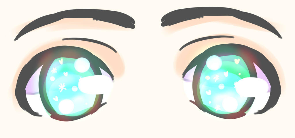 how to draw sparkly eyes