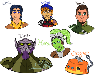 Star Wars Rebels: The Ghost Crew by XSnowshadowX
