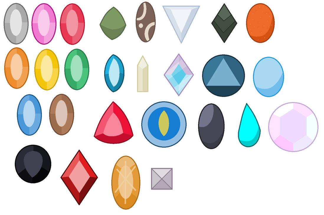 OG Gem Types Gemstones by JanethePegasus on DeviantArt