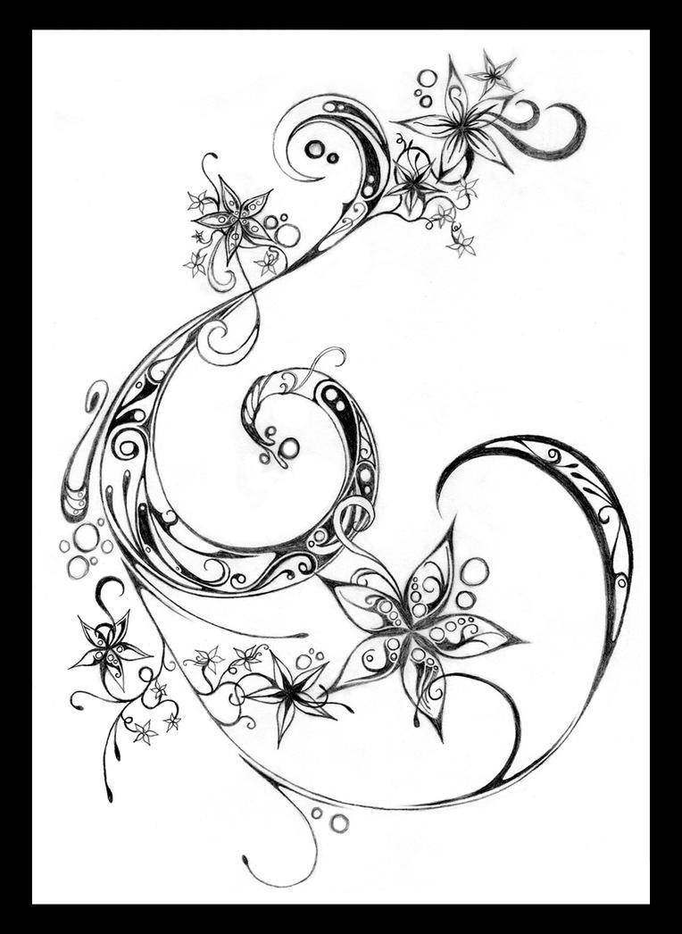 flowers and swirls designs - photo #9