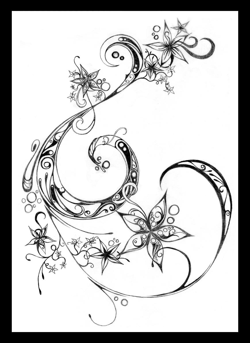 flowers and swirls by fairyality on deviantart. Black Bedroom Furniture Sets. Home Design Ideas
