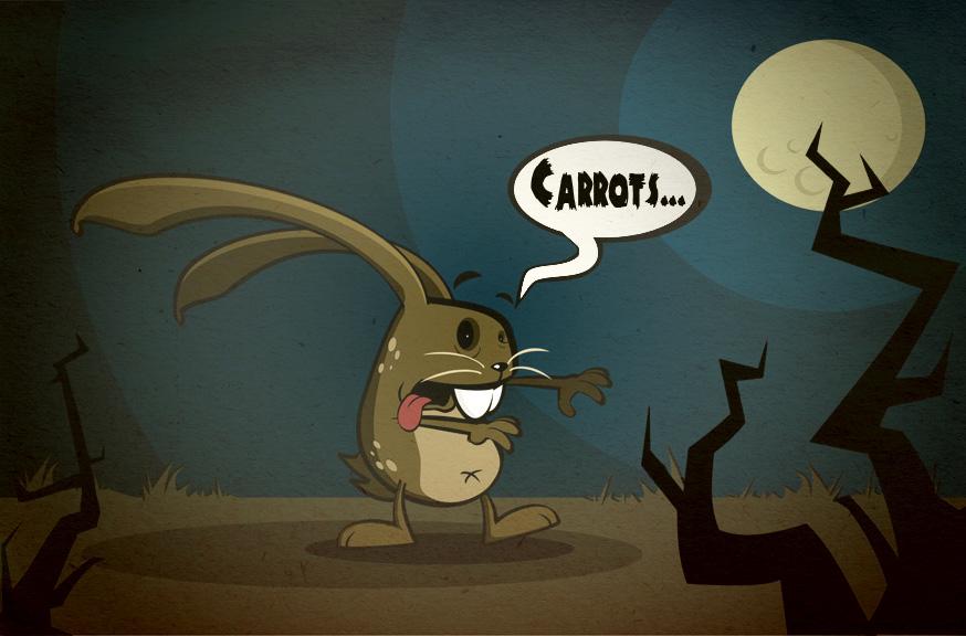 Zombie Rabbit by Niddl...