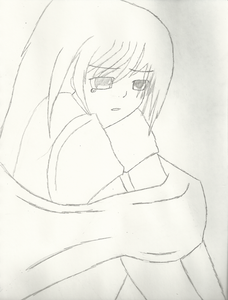 Sad Anime Girl by Verve12 on DeviantArt