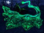 Ghostly wolfs
