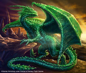 Emerald Dragon by Sumerky