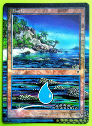 Island altered by Hasslord (foil) by Hasslord