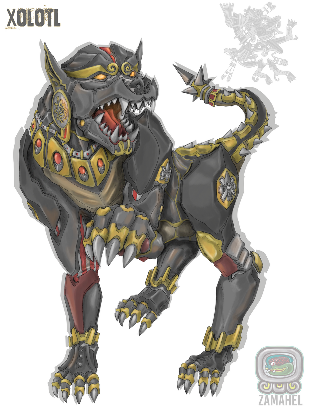 xolotl by guiler717 on deviantart