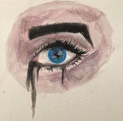 watercolour eye painting by IThrewMyPieForYou
