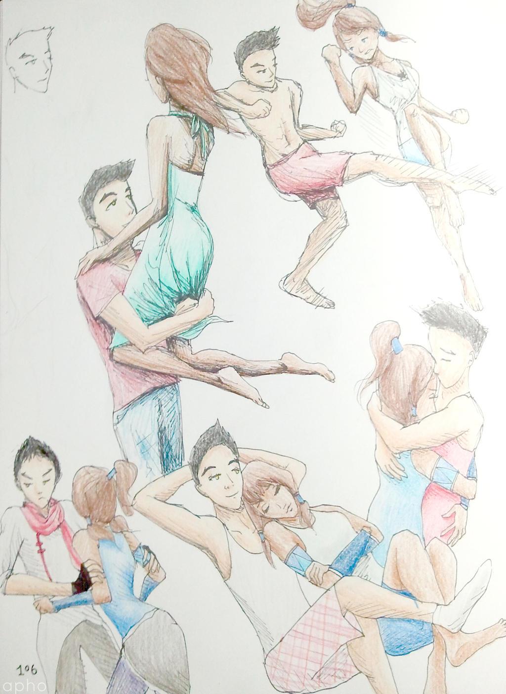 LOK: Makorra Sketchdump by AnhPho