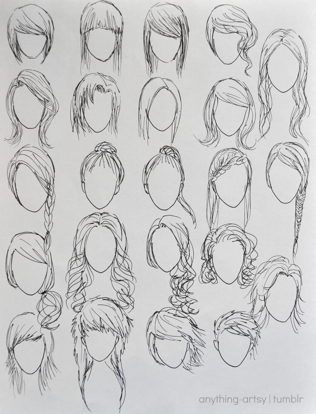 how to draw hairstyles tumblr - photo #40