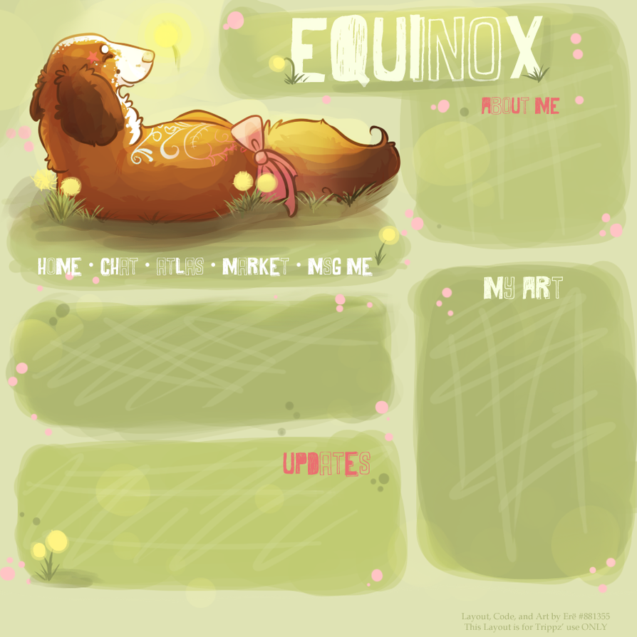 Equinox Layout by TheyCallDaWindMariah