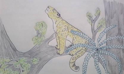 Jaguar on a tree by Akerba24
