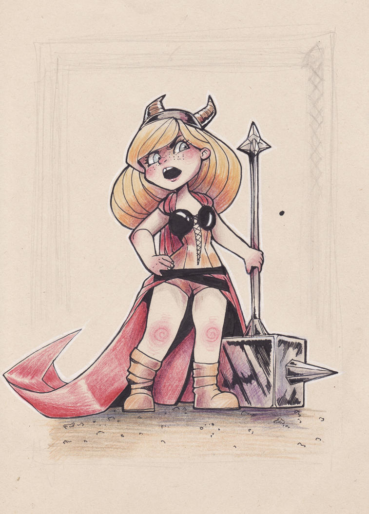 Little Red Viking - kind of finished by Naeviss