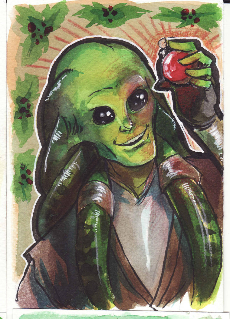 Master Fisto - Christmas Card by Naeviss