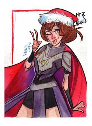 Christmas Card: Yozuru by Naeviss