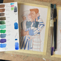 Streaming watercolor dragon age commissions