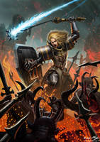 Diablo 3 Contest Female Crusader by Brandon71