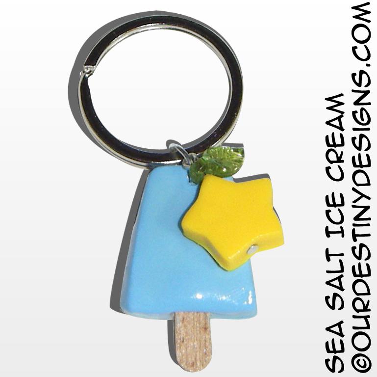 Sea Salt Ice Cream Key Chain (v2) by OurDestinyDesigns
