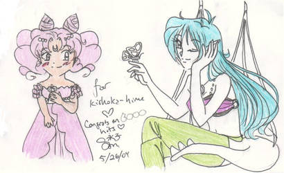 For kishoka-hime and 6000 hits by the-pink-angel