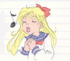 Minako sings by the-pink-angel